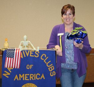 First-time Regional Convention attendee Christine Duplissey (Kitsap #46)