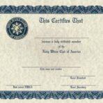Initiation Certificate