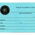 Local Club Chairman Card