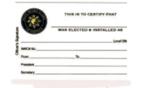 Local Club Officer Card