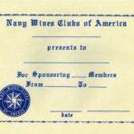 Member Sponsoring Certificate