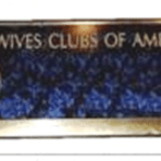 Blue and Gold Name Badge With Name, Title or Office Added