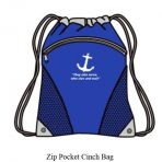 Zip Pocket Cinch Bag