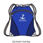 Zip Pocket Cinch Bag