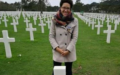 Navy Wives Clubs of America (NWCA) Honors WWII Hero's at Normandy