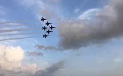 United States Navy Blue Angels Performance at NAS Pensacola, Florida, July 2019
