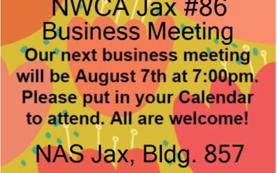 NWCA Jax #86 Announces its August 2019 Meeting Information.