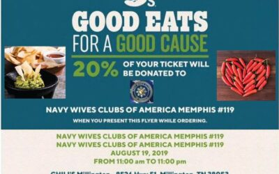 """NWCA Memphis #119 Promotes """"Good Eats for a Good Cause"""" fund raiser at their local Chili's Restaurant in Millington, Tennessee on Monday, August 19, 2019."""