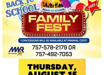 NWCA Princess Anne #143 Promotes NAS Oceana, Virginia MWR Back to School Family Fest, August 15, 2019.