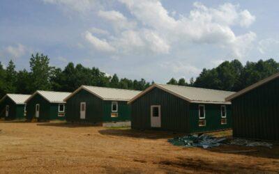 Progress continues on Darkhorse Lodge, Paris, Tennessee.