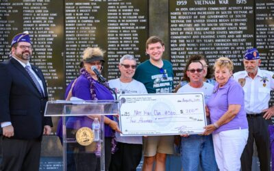 NWCA Daughters in Dixie #300 Attends Military Order of The Purple Heart (MOPH) Ceremony, Jacksonville, Florida, August 6, 2019.
