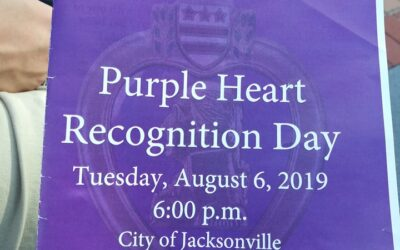 NWCA Daughters in Dixie #300 Attend Purple Heart Recognition Day Ceremony in Jacksonville, Florida, August 6, 2019.