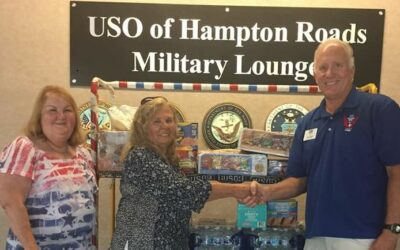 Members of Princess Anne #143 Assist local area USO's with Food and Supplies, August 20, 2019.