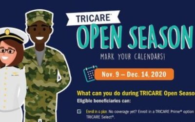 Tricare Open Season Opens Soon:  November 9 – December 14.