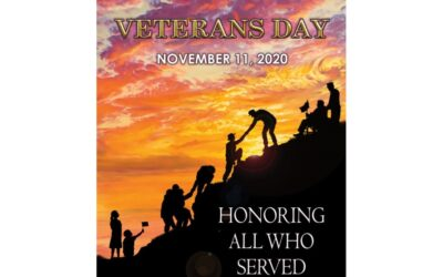 "November 11, 2020: Veterans Day Greetings to ""ALL WHO SERVED."""