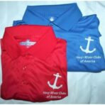 Polo Shirts/Blue & Red, Assorted Sizes.